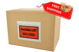 9000 Pouches 7 X 5 5 Full Face Packing List Enclosed Slip Holders Envelopes