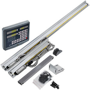 2 Axis Digital Readout Dro W High Precision Linear Scale Encoder Milling Lathe