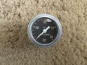 Vintage Stewart Warner Oil Pressure Gauge Hot Rat Rod Gasser