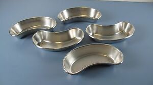 Lot Of Five Vollrath Stainless Steel Medical Surgical Kidney Pans Model 9860