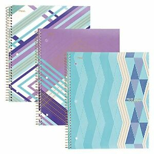 Five Star Spiral Notebooks 1 Subject College Ruled pack Of 3 02 Purple