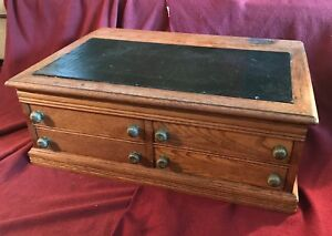 J P Coats Antique Spool And Thread Cabinet