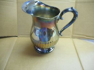 Vintage Towle Silverplate Water Pitcher With Ice Lip S88