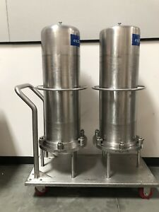 Cuno Sanitary Filtration Stainless Steel Housing By Fluid Line Technology W Cart