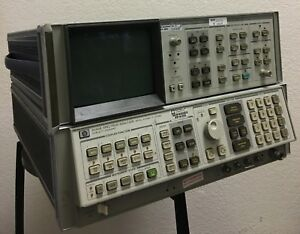 Hp 8566b Spectrum Analyzer 100hz 2 5ghz 2 22ghz W Display read Full Ad