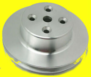 Big Block Chevy Bbc Aluminum Pulley Long Water Pump Double 2 Groove