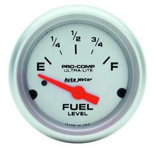 Auto Meter 4314 Gauge Fuel Level 2 1 16 0 To 90 Electric Ultra Lite