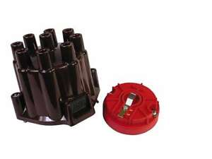 Msd 8442 Distributor Cap And Rotor Kit Brass Terminals Points Style Cap