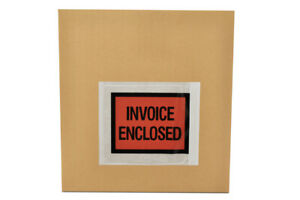 8000 4 5 X 5 5 Invoice Enclosed Packing List Slip Holders Envelopes Full Face