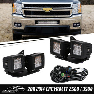 Fit Chevy Silverado 1500 2500 3500 4 Cube Light 4pcs Mount Wiring Harness