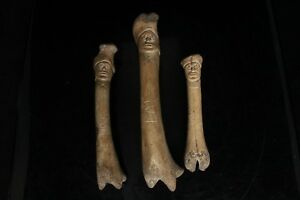 Ancient Medieval Carved Doll Figures Celtic Viking Runic Inscriptions