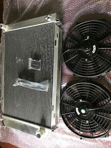 Aluminum Racing 3 Row Radiator 12 Fans Fits 79 93 Ford Mustang Glx Lx Gt Svt