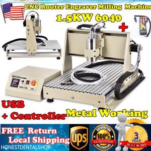 1500w Usb 3 Axis 6040 Cnc Router Engraver Milling Engraving Drilling controllerr