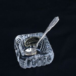 1 Milburn Rose By Westmorland Silver Sterling Salt Spoon With Crystal Dip