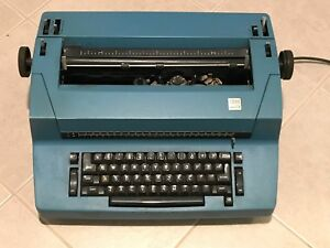 Vintage 1980s Ibm Correcting Selectric Ii Electric Typewriter Blue