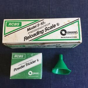 Vintage RCBS 5-10 Reloading Powder Scale Extras Powder Trickler Power Funnel New