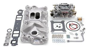Edelbrock 2021 Performer Eps Intake Manifold And Carburetor Kit 2021 2701 1406