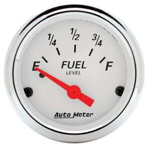 Auto Meter 1315 Gauge Fuel Level 2 1 16 0 E To 90 F Arctic White
