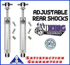 Viking Gm Tri Five Bel Air Smooth Body Double Adjustable Rear Shocks Shock Pair