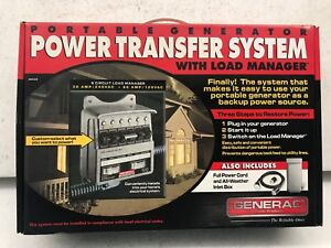 Generac Portable Generator Power Transfer System With Load Manager 120 240 Vac