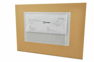 2000 4 X 6 Clear Re closable Packing List Envelope Plain Face Back Side Load
