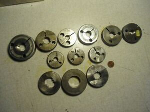 Thread Ring Gages Lot Of 9