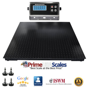 4x4 Heavy Duty Pallet Floor Scale 7 500 Lb With Indicator 5 Year Warranty