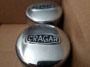 Cragar Center Caps pair 3 3 Diameter Closed Push Through Style Cap
