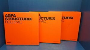 Lot Of 3 Agfa Ge Structurix X ray Film D4 Dw Rollpac 35mm X 90m Exp 2020