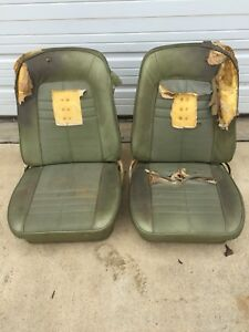 Camaro Firebird 1967 1969 Front Bucket Seats Pair Rs Ss Z28 Original J14901