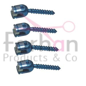 Posterior Spine System Pedicle Screw And Rod Spine Implant 7 5mm 16 Pcs