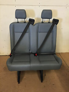 2015 2016 2017 2018 Ford Transit Van 2 Person Bench Seat Gray Vinil W Cut