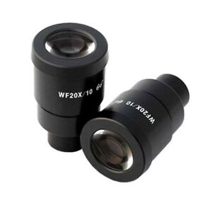 Amscope Ep20x30 Pair Of Super Widefield 20x Microscope Eyepieces 30mm