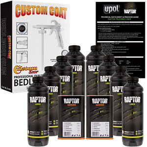 Raptor Tintable Urethane Spray On Truck Bed Liner Spray Gun 8 Liters