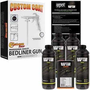 U Pol Raptor Black Urethane Spray On Truck Bed Liner Spray Gun 4 Liters