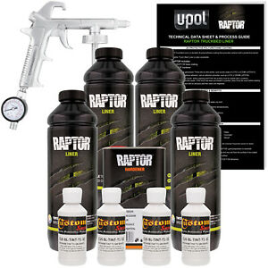 Raptor Gm White Urethane Spray on Truck Bed Liner Spray Gun 4 Liters