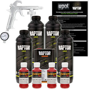 Raptor Hot Rod Red Urethane Spray On Truck Bed Liner Spray Gun 4 Liters