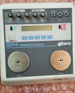 Bio tek Qed 6 Defib Analyzer For Aed Pacer Testing Recently Calibrated
