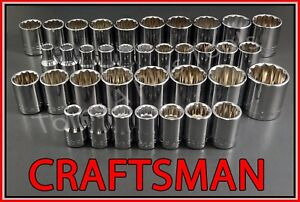 Craftsman Hand Tools 36pc Lot 12pt 1 2 Sae Metric Mm Ratchet Wrench Socket Set