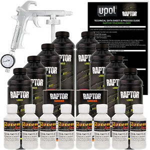 Raptor Gm White Urethane Spray on Truck Bed Liner Spray Gun 8 Liters