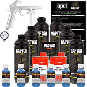 Raptor Reflex Blue Urethane Spray On Truck Bed Liner Spray Gun 6 Liters
