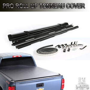 Black Lock Soft Roll Up Tonneau Cover Fits 2015 2019 Chevy Colorado 5 2 Ft Bed