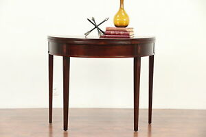 Demilune Half Round Vintage Hall Console Game Table 29606