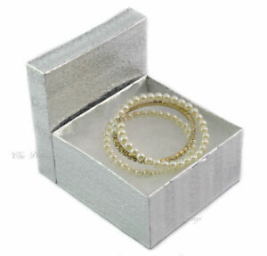 Best Deal Lot Of 100 Silver Cotton Filled Box Jewelry Box Party Box Large 2 h