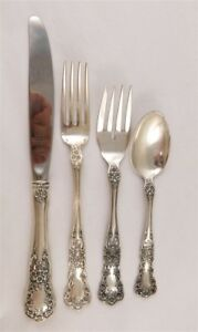 Estate Buttercup By Gorham Sterling Silver 4 Piece Place Setting