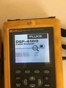 Fluke Networks Dsp 4100 Cable Tester