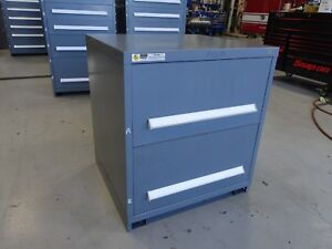 Vidmar Model 0175 Industrial Drawer Cabinet Grey 2 Drawers