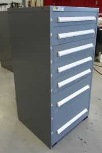 Vidmar Model 0340 Industrial Drawer Cabinet Grey 7 Drawers 2