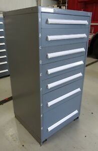 Vidmar Model 0340 Industrial Drawer Cabinet Grey 7 Drawers 3