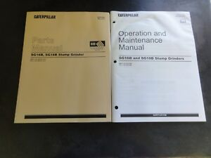 Caterpillar Cat Sg16b Sg18b Stump Grinder Parts And Operation Maintenance Manual